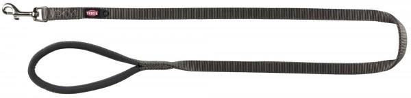 Leine Premium 1,20m 15mm graphit xs-s