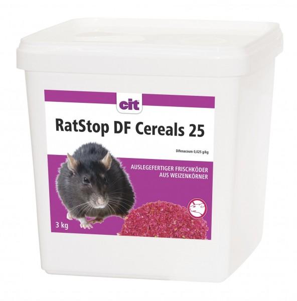 RatStop DF Cereals 3kg Rattengift Rattenköder Mäusegift < 0,0029% Difenacoum