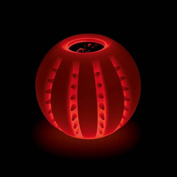 Leuchtball grün mit LEDs, 6 cm