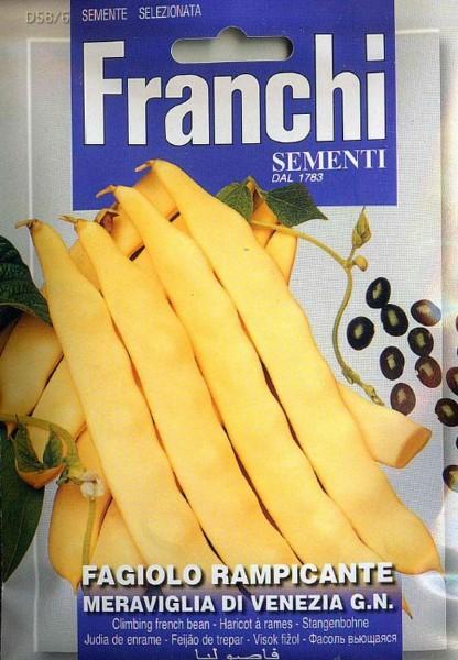 Franchi Samen Fagiolo Rampicante Meraviglia Stangenbohne-Copy