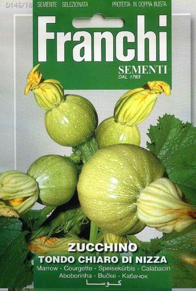 Franchi Samen Zucchino Tondo Chiaro di Nizza Kürbis