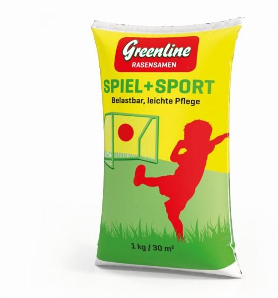 GREENLINE Spiel und Sport 1 kg Rasensamen Rasensaat Rasenmischung