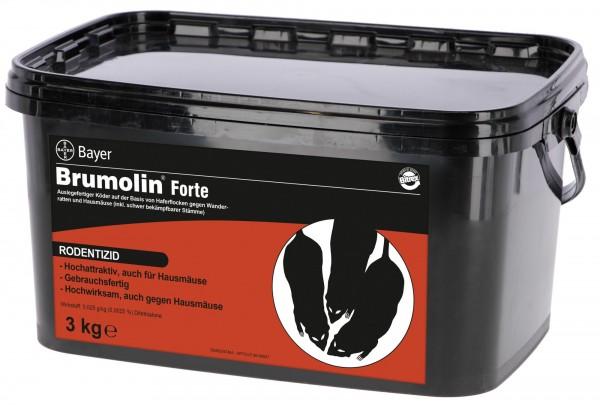 Bayer Brumolin Forte 3 kg Rattengift Mäusegift Rattenköder Haferflocken