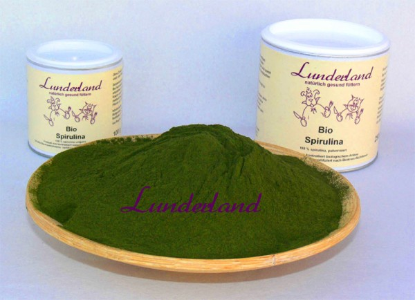 Lunderland-Bio-Spirulina 100g Dose DE-ÖKO-003