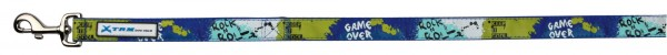 Leine game over L-XL 1,20m 25mm blau grün
