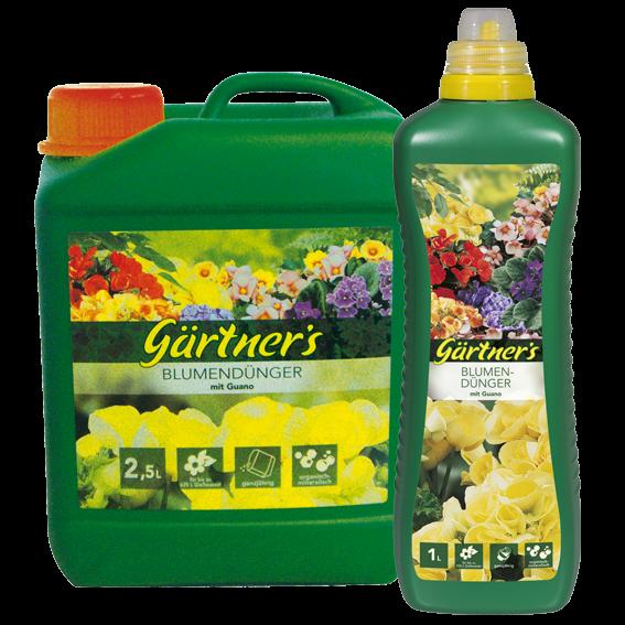 Gärtner's Blumendünger 1 L mit Guano