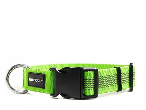 Mystique Gummiertes Halsband 30mm neon grün 40-50cm