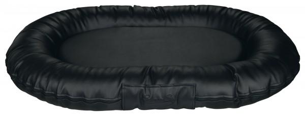 Kissen Samoa Sky Kunstleder 140x105cm schwarz