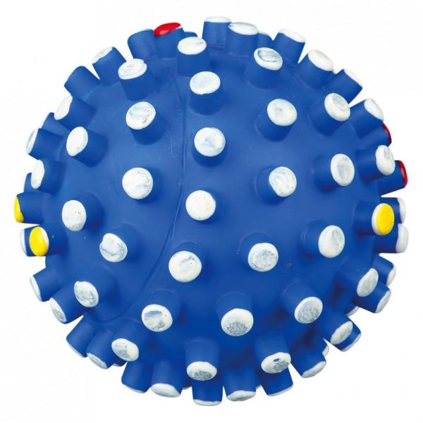Igelball mit großen Noppen, blau, 6 cm