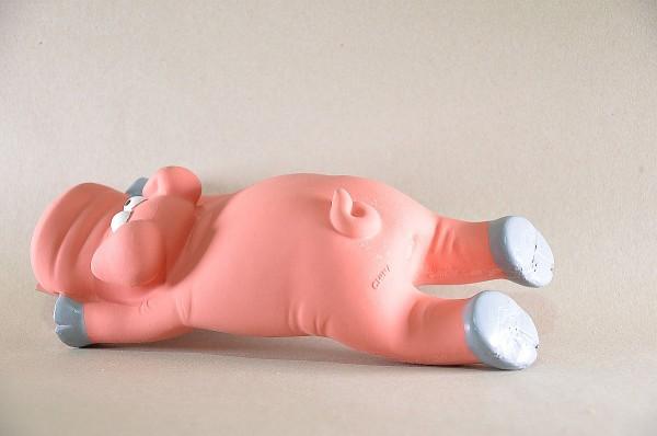 Schwein Manni aus Latex, 30 cm pink