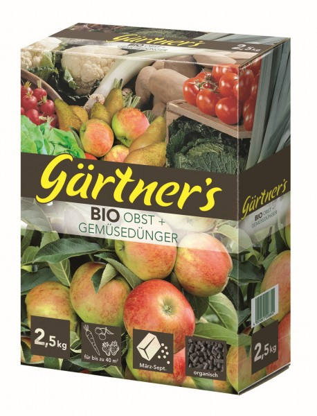 Gärtner's Bio Obst + Gemüsedünger 2,5 kg