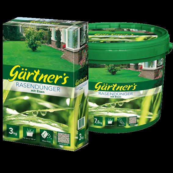 Gärtner's Rasendünger mit Eisen 3kg