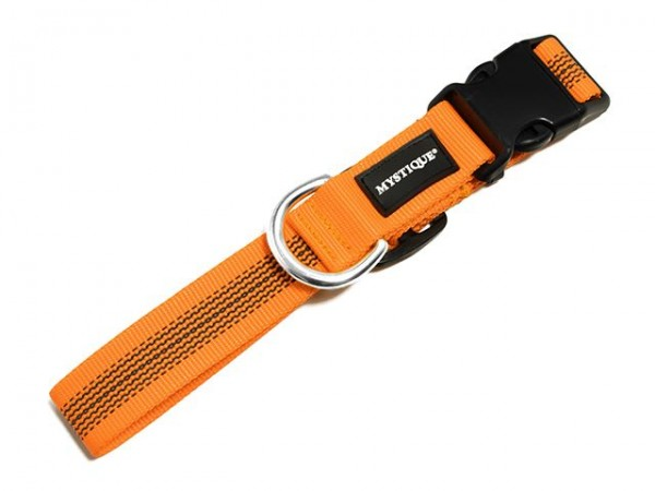 Mystique Gummiertes Halsband 30mm neon orange 40-50cm