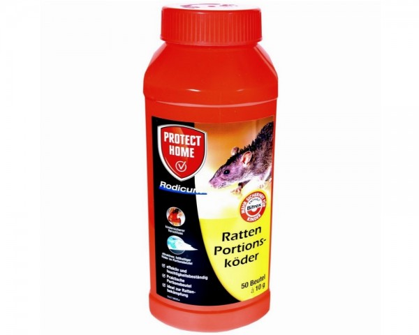Protect Home - 500g Rodicum Ratten Portionsköder Rattengift