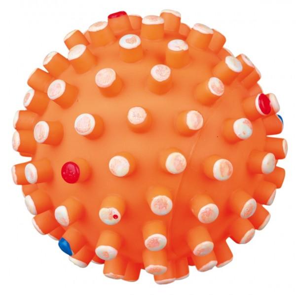 Igelball mit großen Noppen, orange, 6 cm