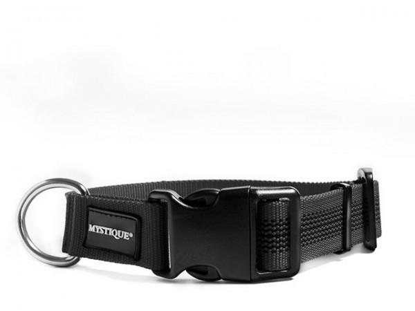 Mystique Gummiertes Halsband 30mm schwarz 40-50cm