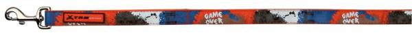 Leine game over L-XL 1,20m 25mm orange blau