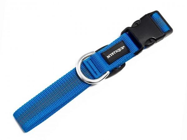 Mystique Gummiertes Halsband 30mm blau 40-50cm