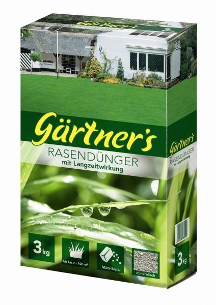 Gärtner's Rasendünger mit Langzeitwirkung 3kg
